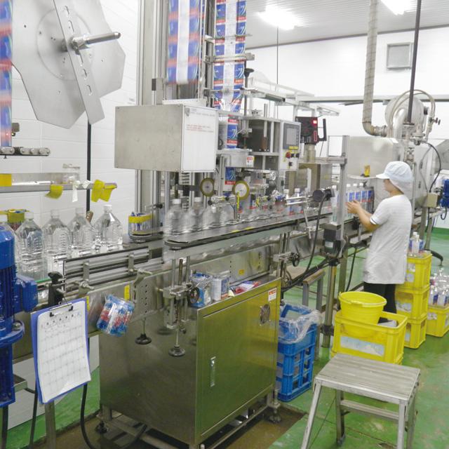 久米島の天然水製造工程